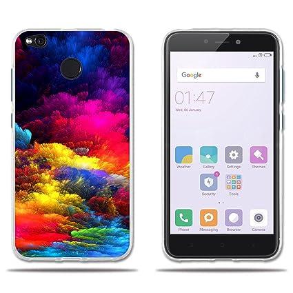 FUBAODA Fundas Xiaomi Redmi 4X, Carcasas Protectora de Silicona Nubes, Elegante y Agradable al Tacto, Carcasa Completamente Resistente para Xiaomi ...