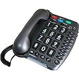 Geemarc Amplipower50 Téléphone filaire special malentendant (version Française) - Anthracite