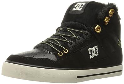 DC Men's Spartan High WC WNT Skate Shoe, Black Camo, ...