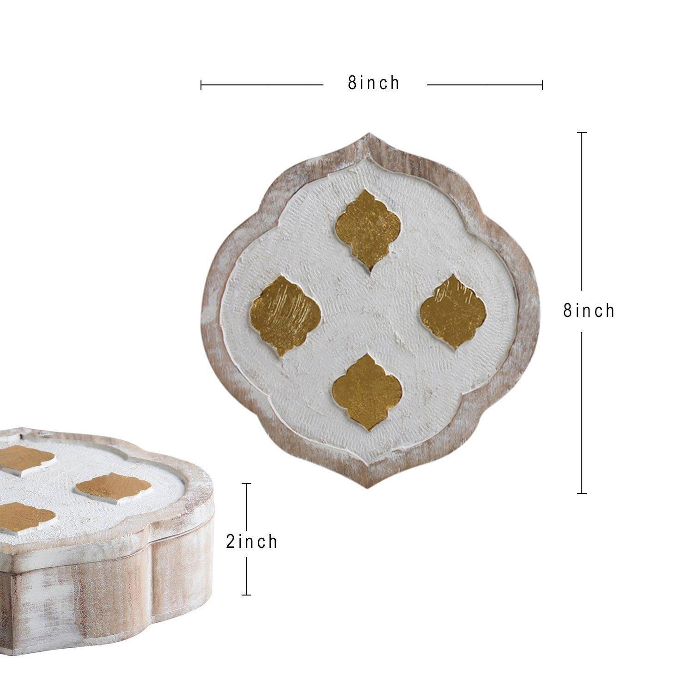 storeindya Wooden Jewelry Trinket Storage Box Holder Organizer Multipurpose