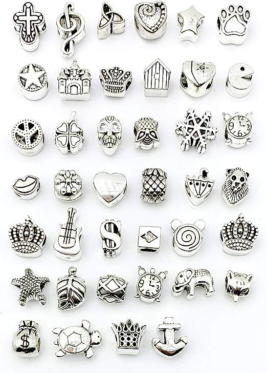 Various Sizes Tibetan Silver Spacer Beads Metal Charm Jewelry Making Finding DIY