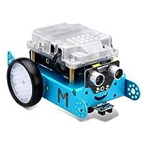 Makeblock MBot Version Améliorée DIY Mbot V1.1 Arduino C Logiciel éducatif de Programmation Graphique pour Enfants / Adultes, Robotique électronique, STEM Education - Bleu (Version Bluetooth)