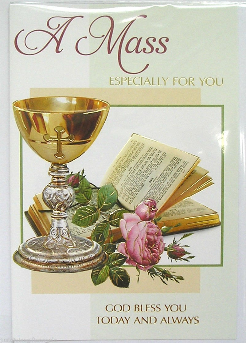 A Mass Especially For You Card ~ Mass Intentions Catholic CBC