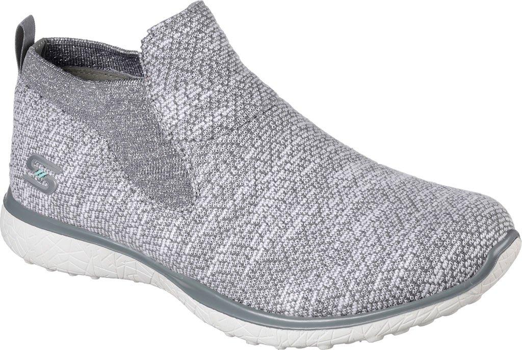 Skechers Sport Women's Microburst Supersonic Fashion Sneaker B01NBWSFQH 7 M US|Gray/White