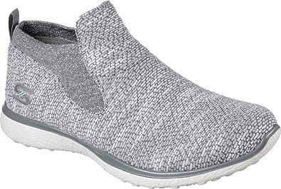 Skechers Sport Womens Microburst Supersonic Fashion Sneaker  Gray/White