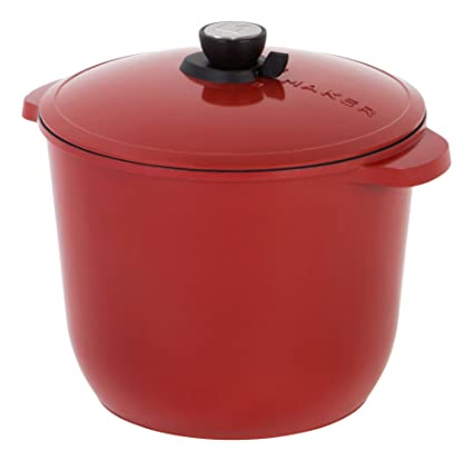 Vesuvio 8 Quart Nonstick Dutch Oven Nontoxic Ceramic Coated Stock Pot With Safe Glass