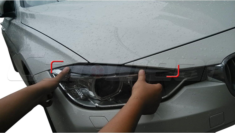 Carbon Fiber Headlight Cover Eyebrows Eyelids for BMW F30 320i 328i 335i 2012-2014