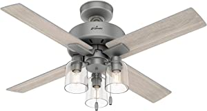 Hunter Pelston Indoor Ceiling Fan with LED Light and Pull Chain, 44
