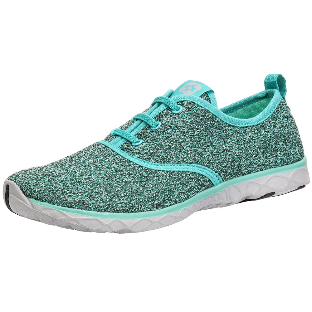 ALEADER Women's Stylish Quick Drying Water Shoes Green 6 D(M) US/EU 36