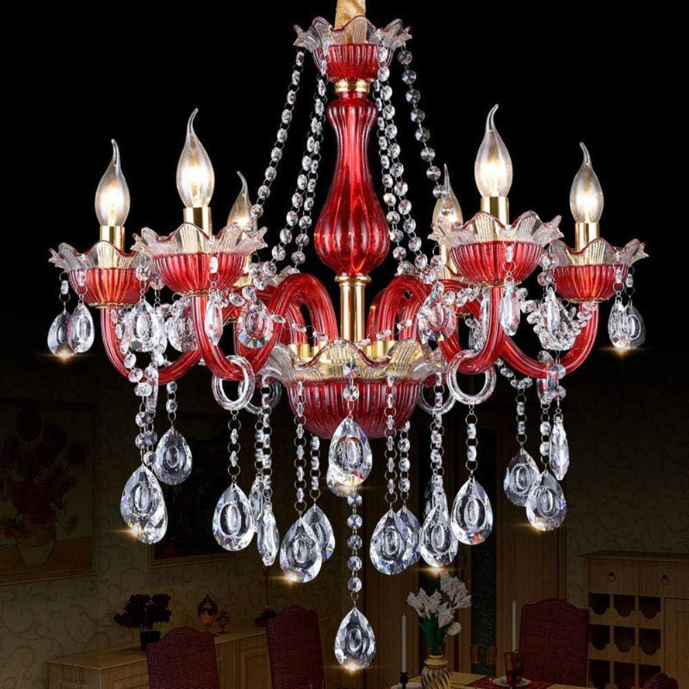 lámpara de cristal del dormitorio del hombre Cafe iluminación de los rojos de barras de color café internet luces para lámparas de techo al por mayor de hoteles con personalidad creativa, 12 +
