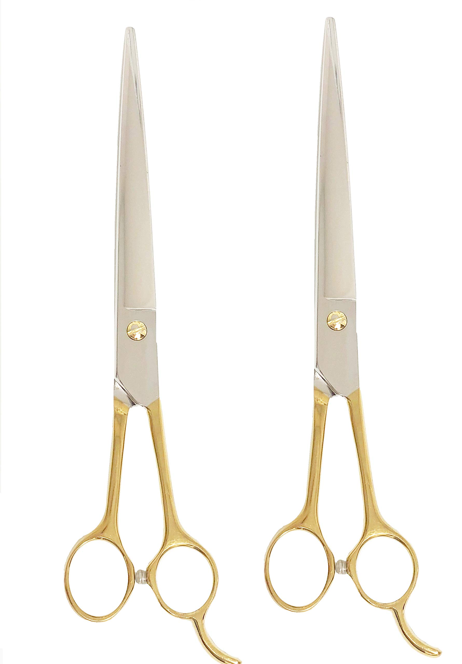 ShearsDirect G-80SET Set Serrated Blade & Gold Handle, 8.0'' by ShearsDirect