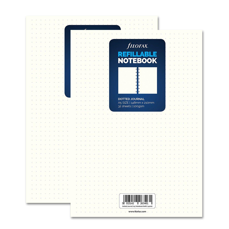Filofax A5Classic weiß Dotted Tagebuch (152016) X 2 FILOFAX-UK