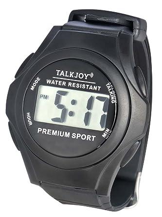 Agua fija Parlante Reloj de pulsera reloj tiempo de personas mayores impedidos Función de Voz Mensajes: Amazon.es: Relojes