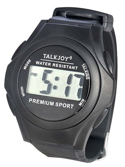 Agua fija Parlante Reloj de pulsera reloj tiempo de personas mayores impedidos Función de Voz Mensajes