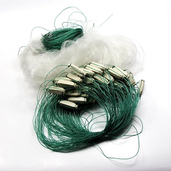 Forfar 25m Klar Monofilament Angeln Fish Trap Ineinander greifen-Loch Gill Net Netting Mit Float Durable Ourdoor Sport 25x1.2m