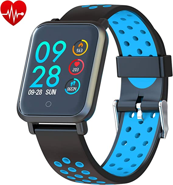 COLMI Smart Watch, Bluetooth Fitness Activity Tracker with Heart Rate Monitor, Wearable Blood Pressure Smartwatch for Women Men Kids, Waterproof ...