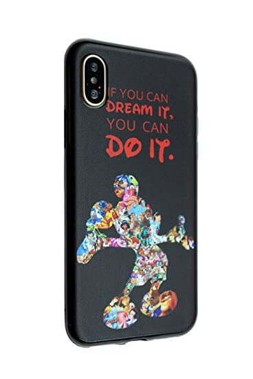 the latest 6f62e d28a2 Disney Mickey Quotes iPhone X Case, iPhone 10 Case, IMAGITOUCH Anti-Scratch  Shock Proof Slim Fit Flexible TPU Case Bumper Cover for iphone X / iPhone  ...