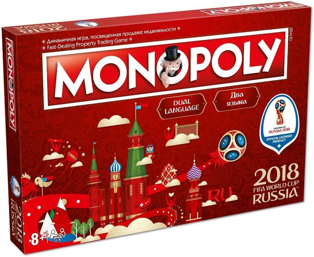 Winning Moves Movimientos ganadores de la Copa Mundial de la FIFA Rusia 2018 Monopolio - Inglés: Amazon.es: Juguetes y juegos