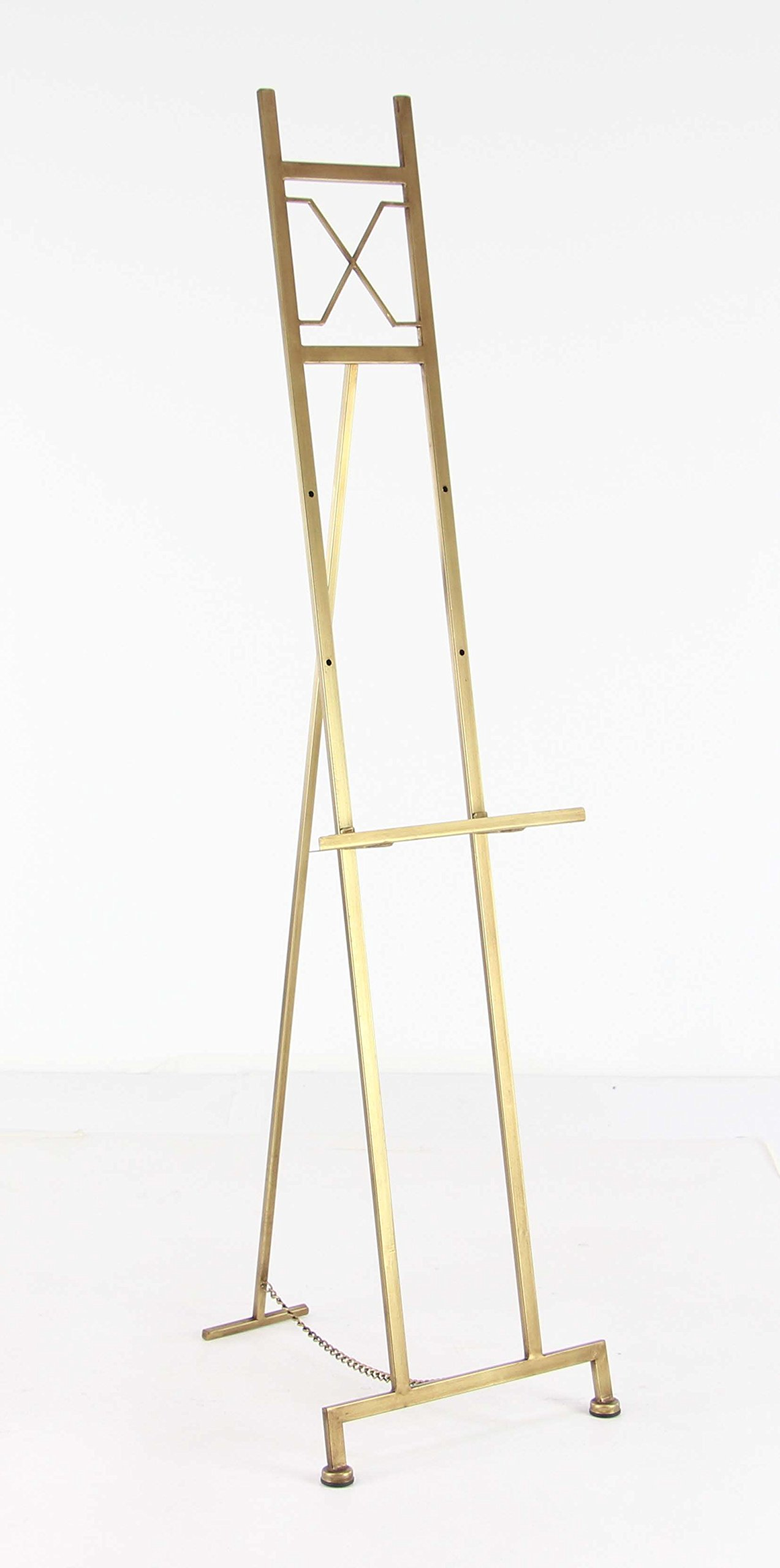 Deco 79 45840 Contemporary Elegant Metal Easel, 57''H x 17''L, Smooth Gold Finish by Deco 79