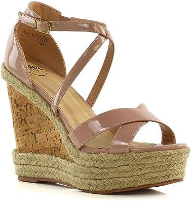 ESSEX GLAM Womens Summer Wedge Sandals