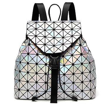 DIOMO Geometric Lingge Women Backpack Luminous Flash Mens Travel Shoulder  Bag Rucksack DIOMO-21 Xmas 406b4de980