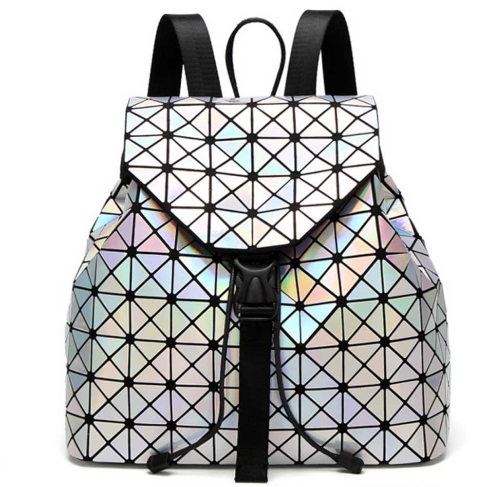 DIOMO Geometric Lingge Laser Women Backpack Travel Shoulder Bag(Laser) by DIOMO (Image #1)