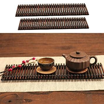 Bambus Tisch Tablett Chinesisch Stil Tee Servierplatte Teekanne
