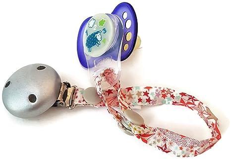 dea-concept - Cadena chupete bebé - liberty - clip plata ...