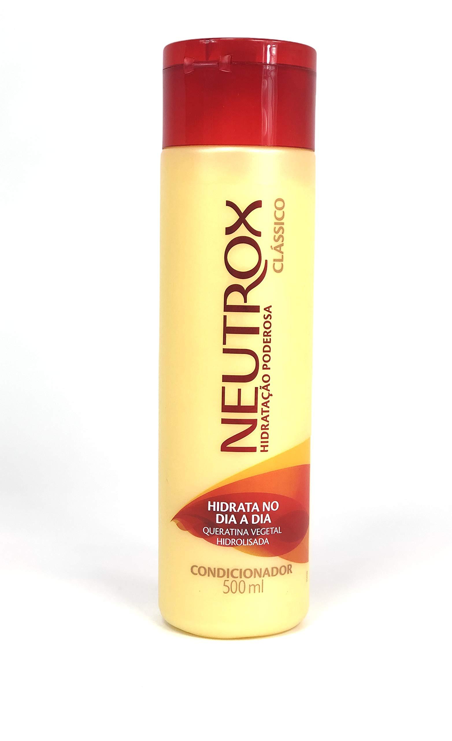 NEUTROX Clássico Condicionador 500ml | Brazilian Hair Treatment Neutrox - All Hair Types Conditioner Hydrolized Classic With Keratin 18oz Factory Sealed