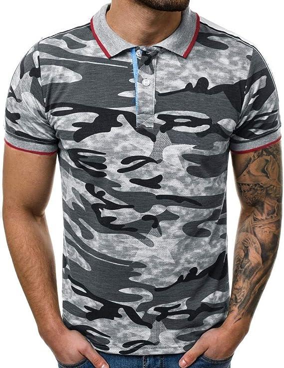 Camiseta para Hombre, Verano Polo Camuflaje Impresión Camiseta ...