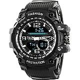 Time Warp Grey Speed Analog Digital Multi Function Wrist Watch for Men & Boys TH936).