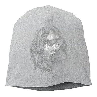Nirvana Band Kurt Cobain Beanie Hat Knit Slouchy Hat Toboggan Winter Hat -  Grey -  Amazon.co.uk  Clothing 497dd72ae3d