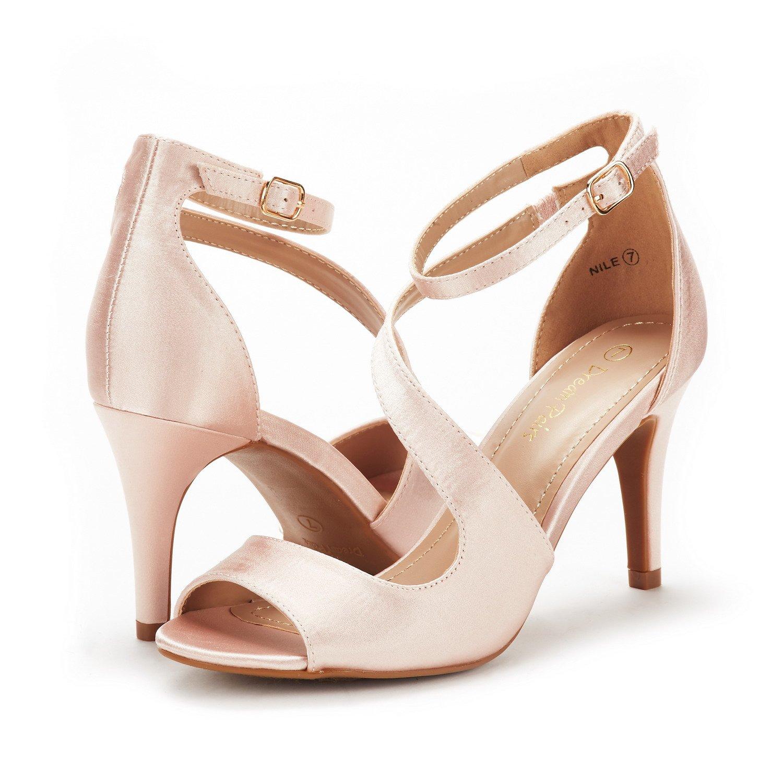 565ae1757c Amazon.com   DREAM PAIRS Women's NILE Fashion Stilettos Open Toe Pump Heel  Sandals   Heeled Sandals