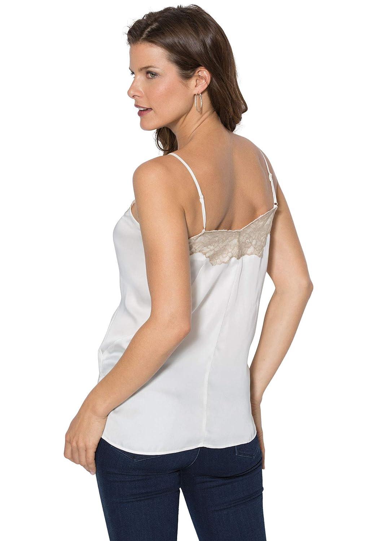 d5a4d9f4bbc Roamans Women's Plus Size Silky Lace Trim Cami at Amazon Women's Clothing  store: