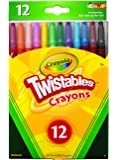 12 Twistables Crayons 12 Pack, Twist for Fun, Back to School, Book-List, Art and Craft, Classroom, Education and Perfect for Colouring!