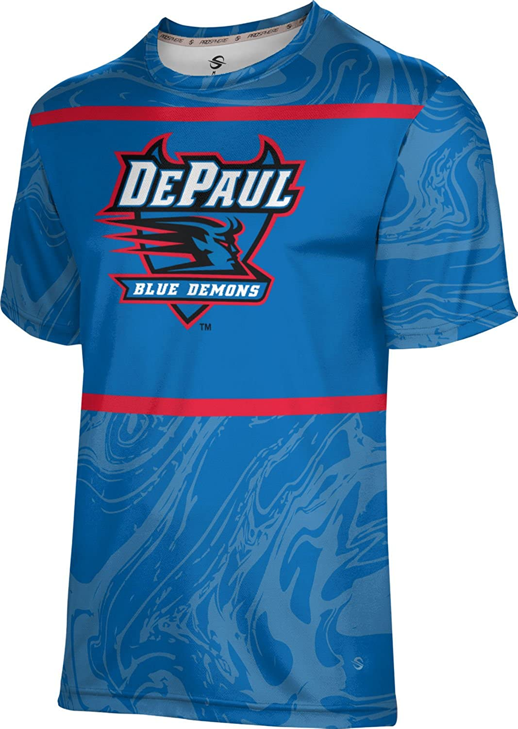 ProSphere DePaul University Mens Performance T-Shirt Ripple