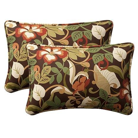 Amazon.com: Almohada perfecto decorativas café/Verde ...