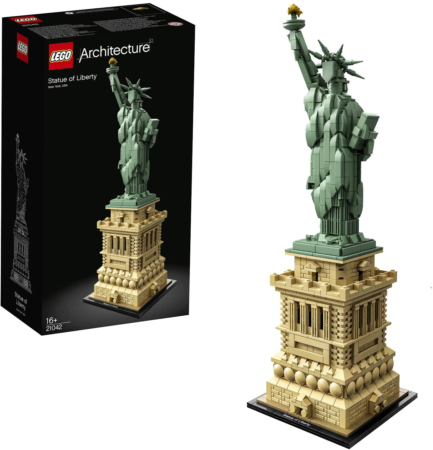 LEGO Architecture - Estatua de la Libertad, Set de Construcción del Monumento de la Ciudad de Nueva York, Regalo Coleccionable Original (21042)