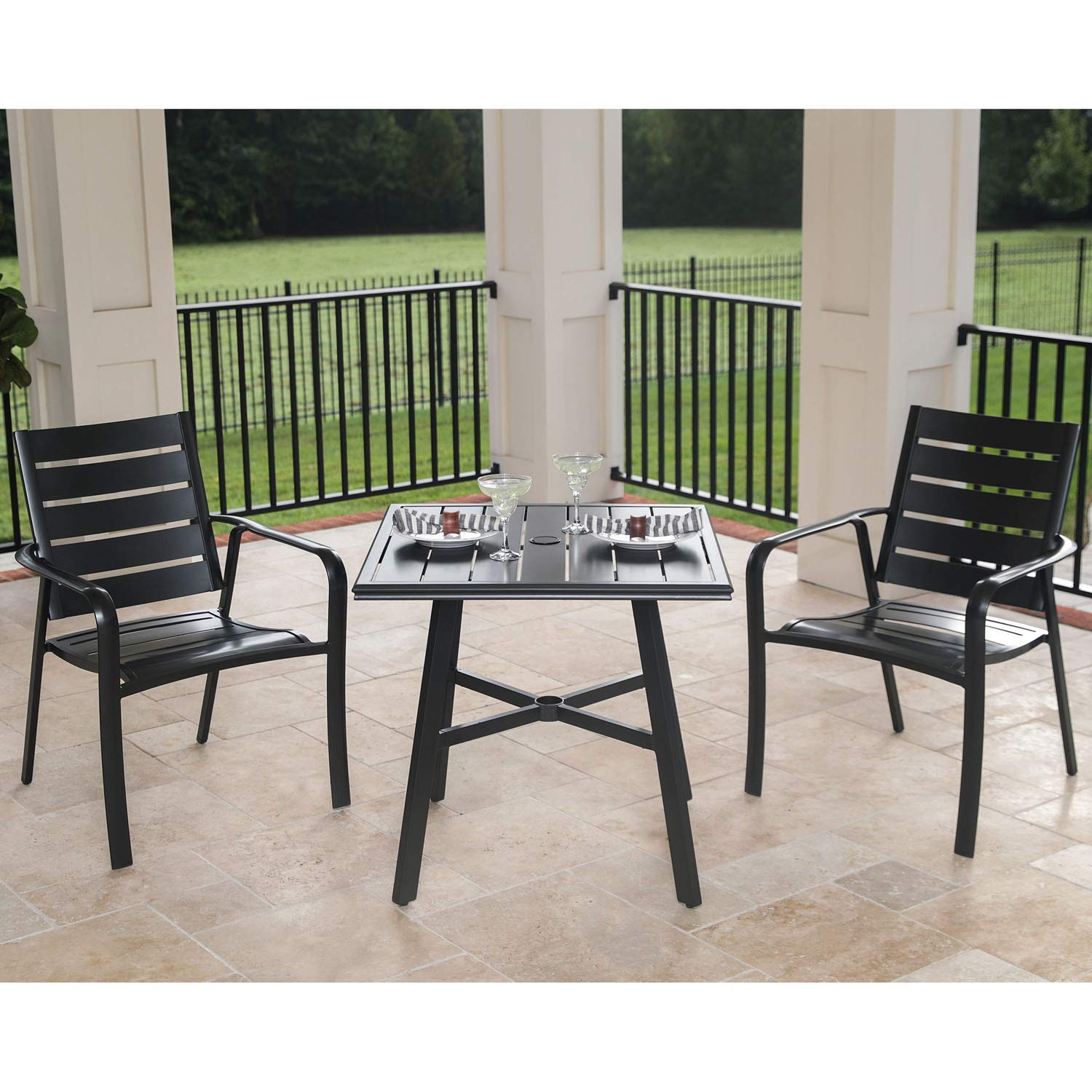 Amazon Com Hanover Cortdn3pcs Cortino 3 Piece Grade Bistro Set