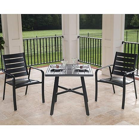 Stupendous Amazon Com Hanover Cortdn3Pcs Cortino 3 Piece Grade Bistro Theyellowbook Wood Chair Design Ideas Theyellowbookinfo
