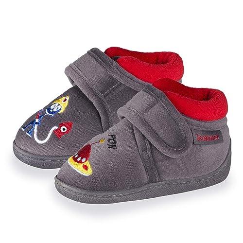 Isotoner - Zapatillas de Estar por Casa Niños, Gris (Gris), 23 EU: Amazon.es: Zapatos y complementos
