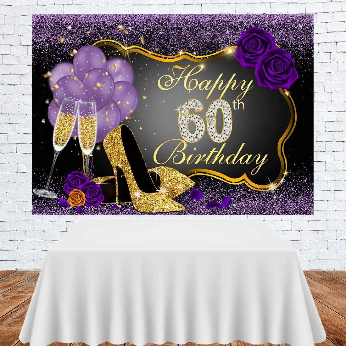 Fotohintergrund Mit Aufschrift Happy 60th Birthday Kamera