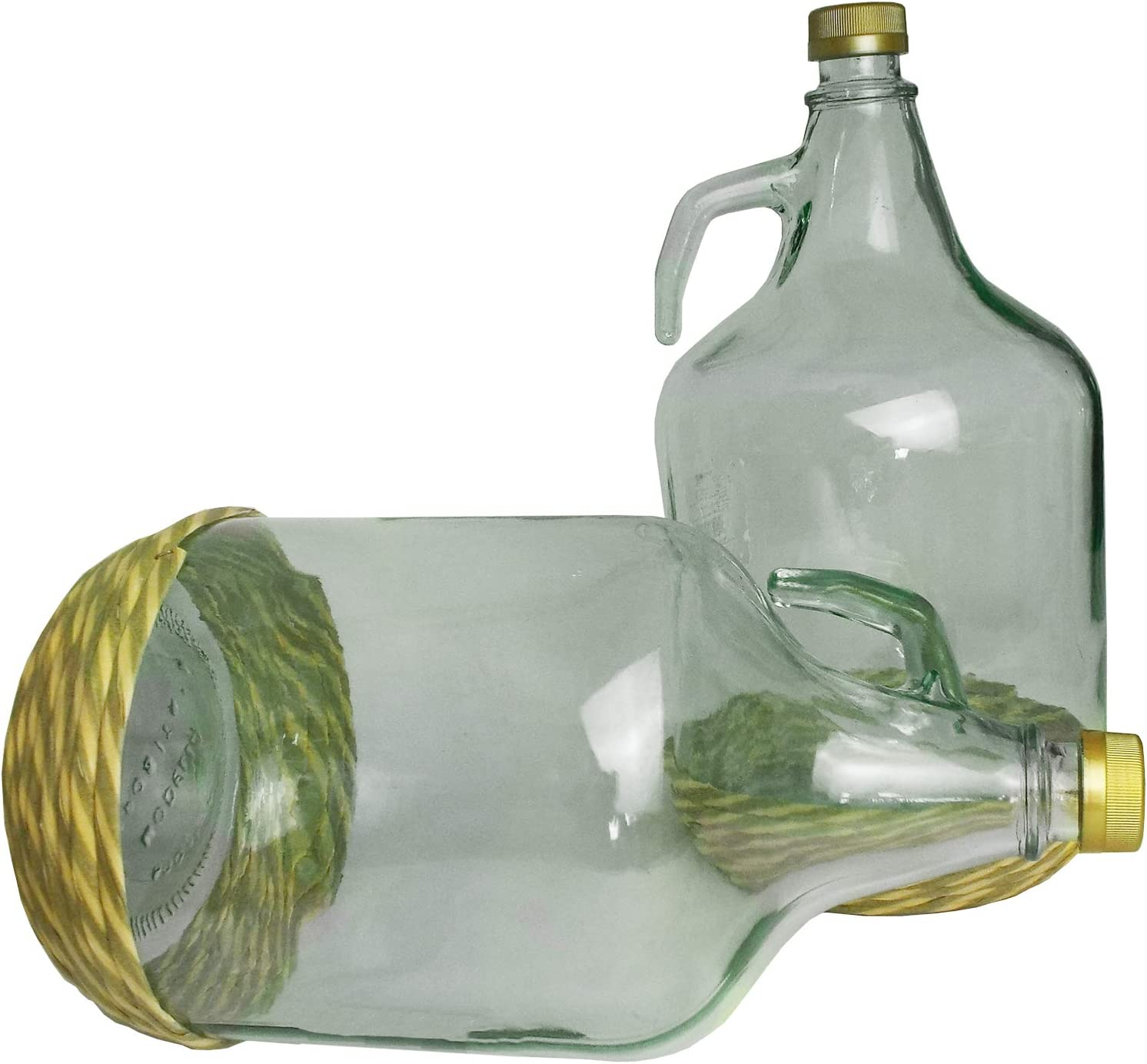 5l Glass Demijohn with Protective Braided Base,Pack of 1,2,4,6 /& 12 4