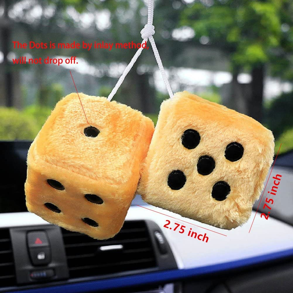 Raspbery Car Ornaments Dice Hanging Plush Dice Ornaments Keychains Ornaments With Suction Cup Mirror Rearview Hanging Ornament Decoration