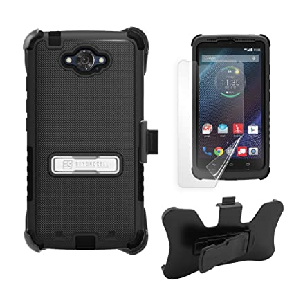 Droid Turbo Case, XT1254, PimpCase Durable Hybrid Rugged [Full Body Protection] Armor