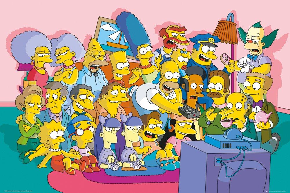 GB Eye LTD, The Simpsons, Sofa Cast, Maxi Poster, 61 x 91,5 cmhttps://amzn.to/2HpbetB
