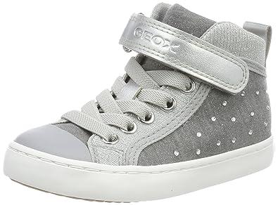 Geox Mädchen J Kilwi Girl L Hohe Sneaker, Grau (Grey), 26 EU