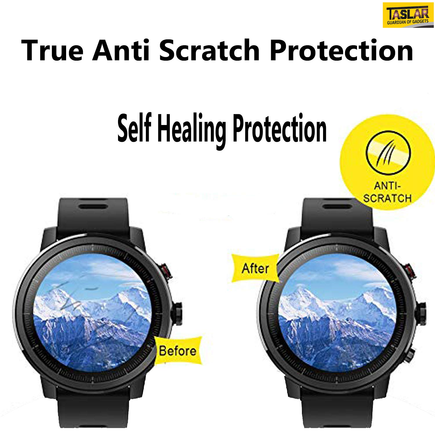 Taslar Front Screen Scratch Guard Protector For Amazfit Xiaomi Pace 2 Stratos Cover Bumper Case Shell Frame Electronics