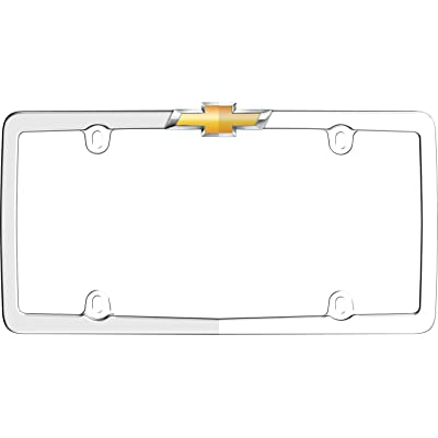 Cruiser Accessories 10437 Chevy License Plate Frame, Chrome/Gold: Automotive