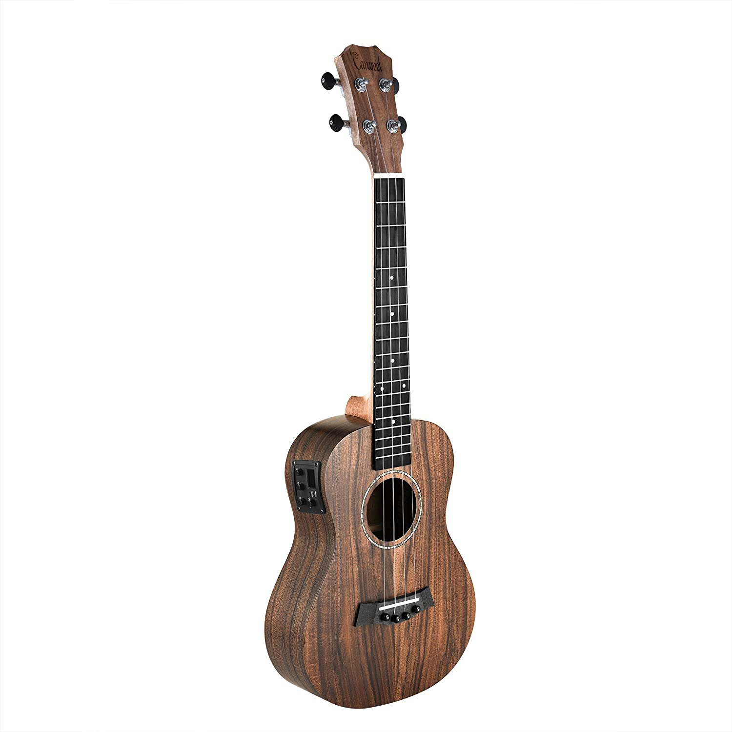 Caramel CT204 All Solid Acacia Acoustic & Electric Tenor Ukulele With Truss Rod